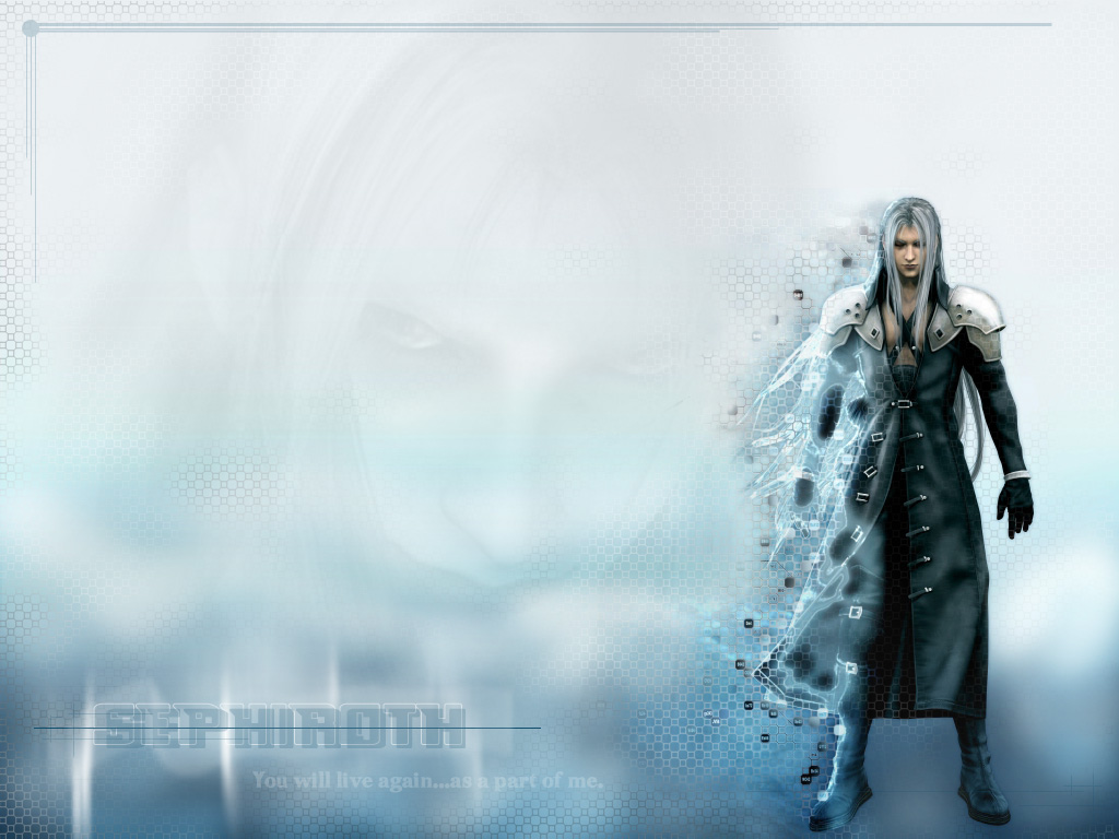 Right-Click -> Save As to download one of these great Sephiroth WallPaper